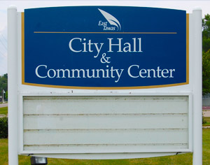 City Hall and Community Center Sign