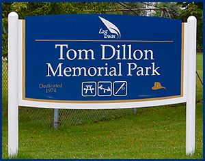 Tom Dillon Memorial Park Sign
